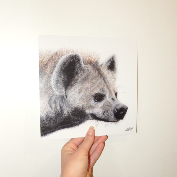 Jessy Megan portrait animal Hyène