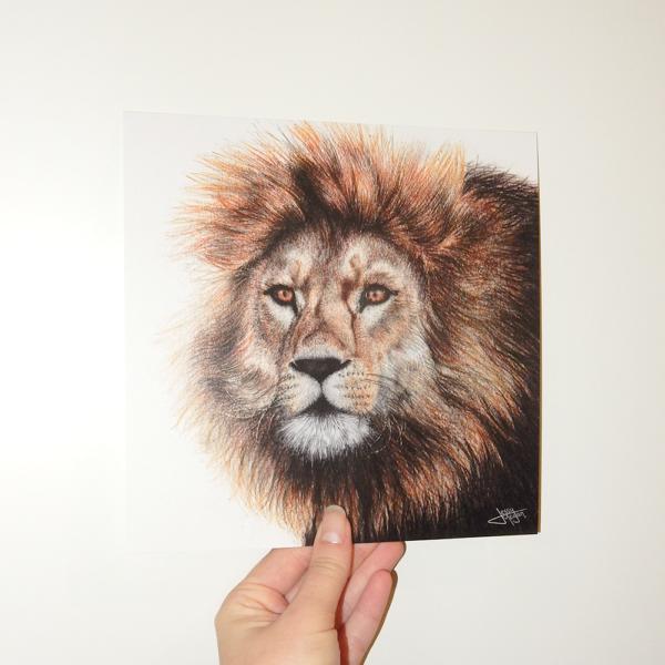 Jessy Megan print portrait animal Lion