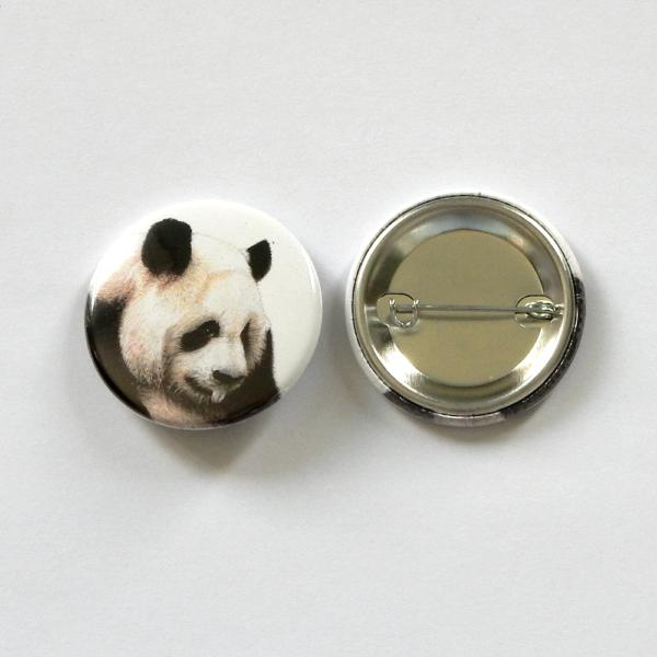 Jessy Megan badge portrait animal Panda produit