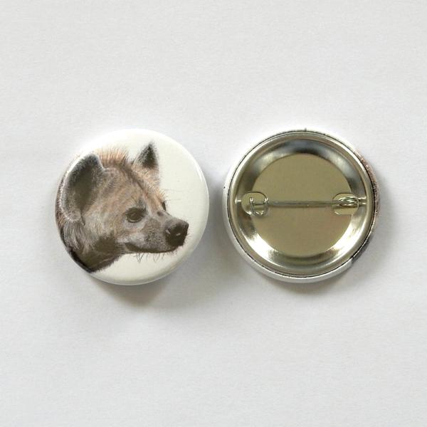 Jessy Megan badge portrait animal Hyène produit