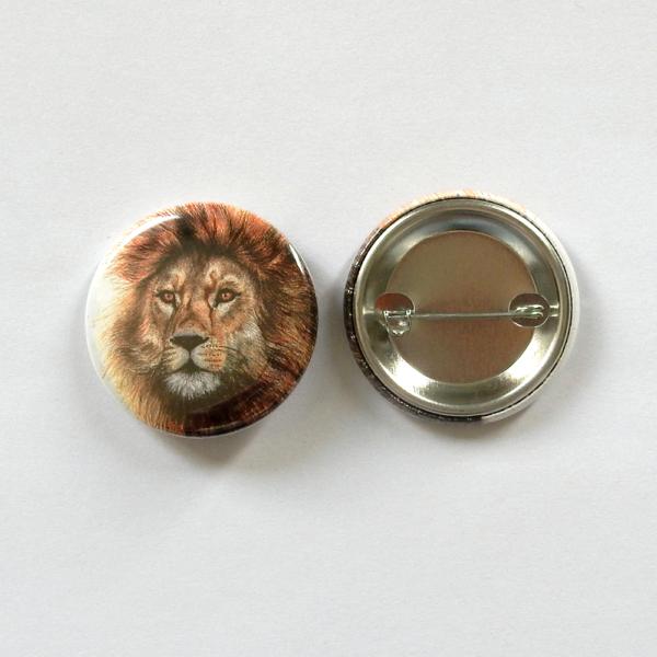 Jessy Megan badge portrait animal Lion produit