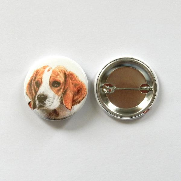 Jessy Megan badge portrait animal Beagle produit