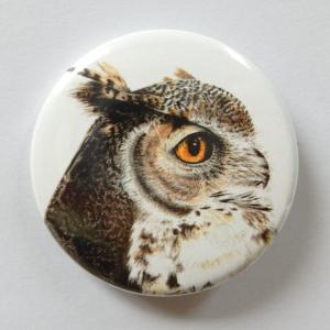 Jessy Megan badge portrait animal Hibou