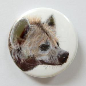 Jessy Megan badge portrait animal Hyène