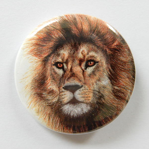 Jessy Megan badge portrait animal Lion