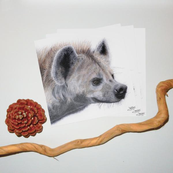 Jessy Megan portrait animal Hyène triple