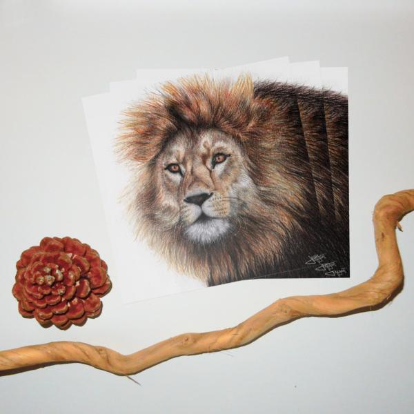 Jessy Megan print portrait animal Lion triple