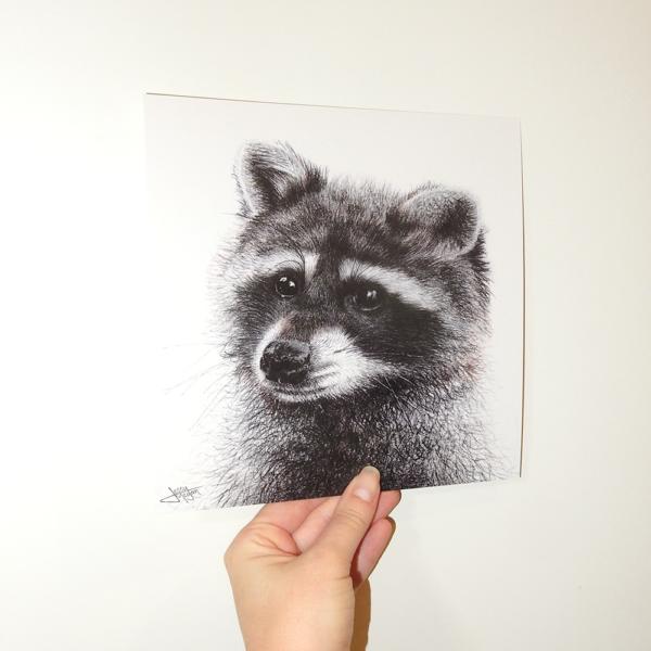 Jessy Megan print portrait animal Raton