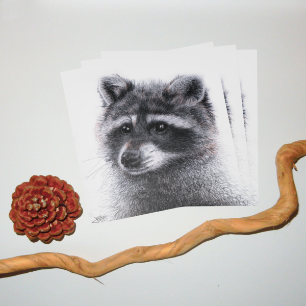 Jessy Megan print portrait animal Raton triple